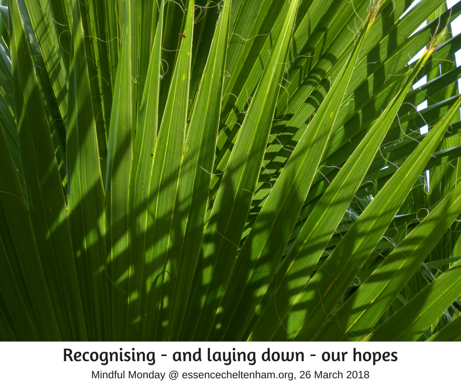 Recognising and layout down our hopes