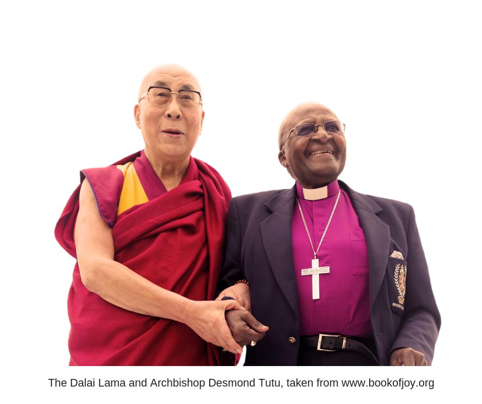 The Dalai Lama and Archbishop Desmond Tutu, taken from www.bookofjoy.org