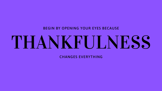 thankfulness changes everything